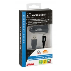 KIT RECHARGE AC + CABLE MICRO USB