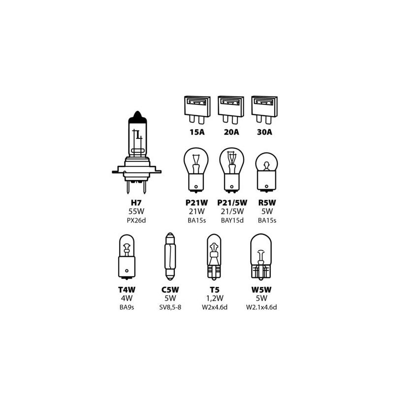 COFFRET H7 8 AMPOULES/3 FUSIBLES - Éclairage