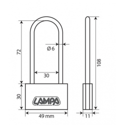 CADENAS LAITON 50MM ETRIER LONG - Outillage