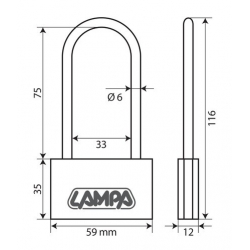 CADENAS LAITON 60MM ETRIER LONG - Outillage