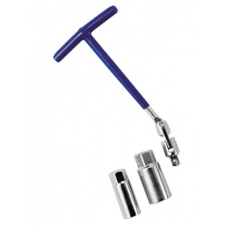 CLE A BOUGIE 16+21MM A CARDAN - Outillage