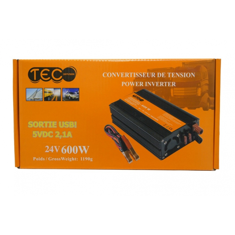 CONVERTISSEUR DE TENSION 24V 600W