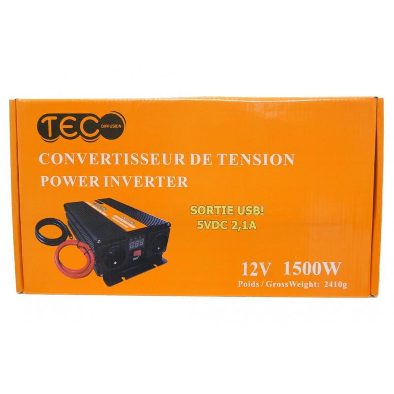 CONVERTISSEUR DE TENSION 12V 1500W - Convertisseurs