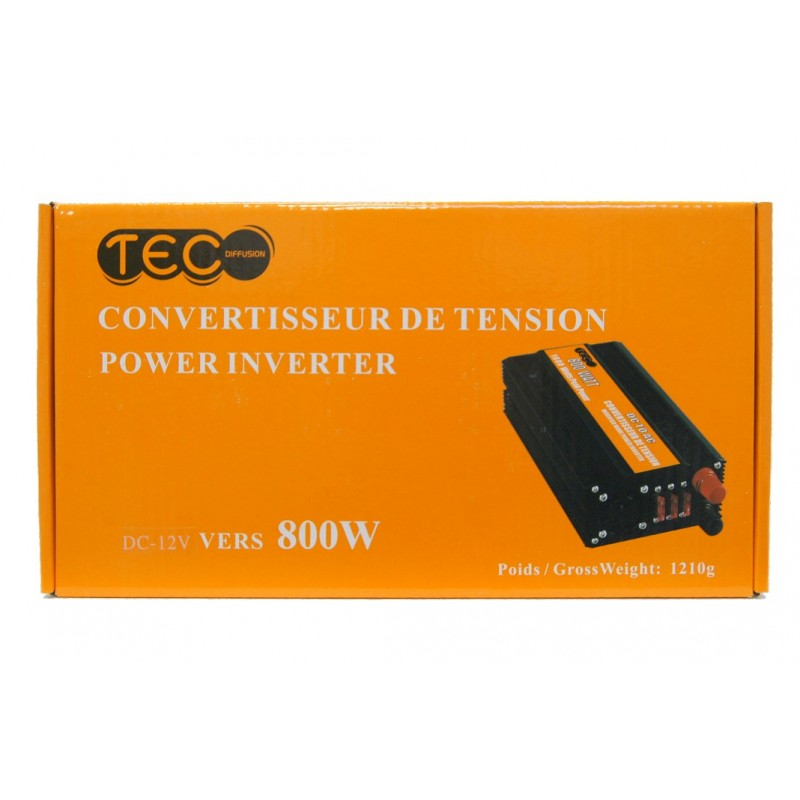 CONVERTISSEUR 800W 12V - Convertisseurs