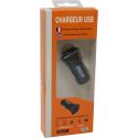 CHARGEUR USB TEC NOIR 2 SORTIES Téléphonie 3760259060602