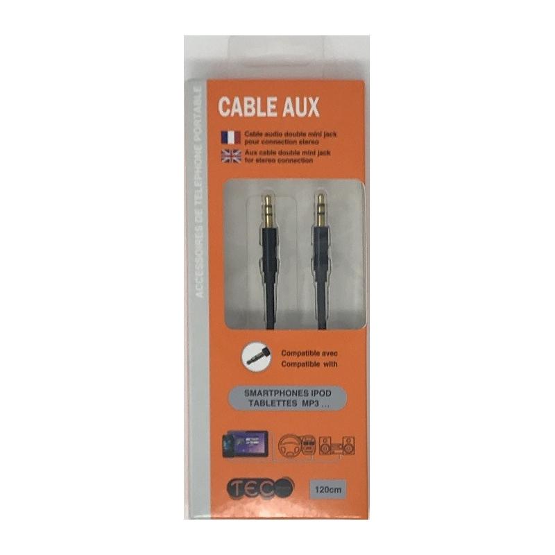 CABLE AUDIO JACK 1.2M TEC - Téléphonie