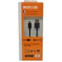 CABLE 1M TEC NOIR MICRO USB Support téléphone/GPS/... 3760259060640