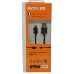 CABLE 1M TEC NOIR MICRO USB - Téléphonie