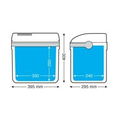 frigo 24 litres - 12V+230V - (-17°C*) - Frigos