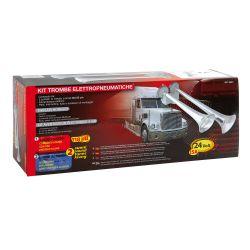 Kit klaxons électropneumatiques 24V, 15A - 2 sons - Accueil