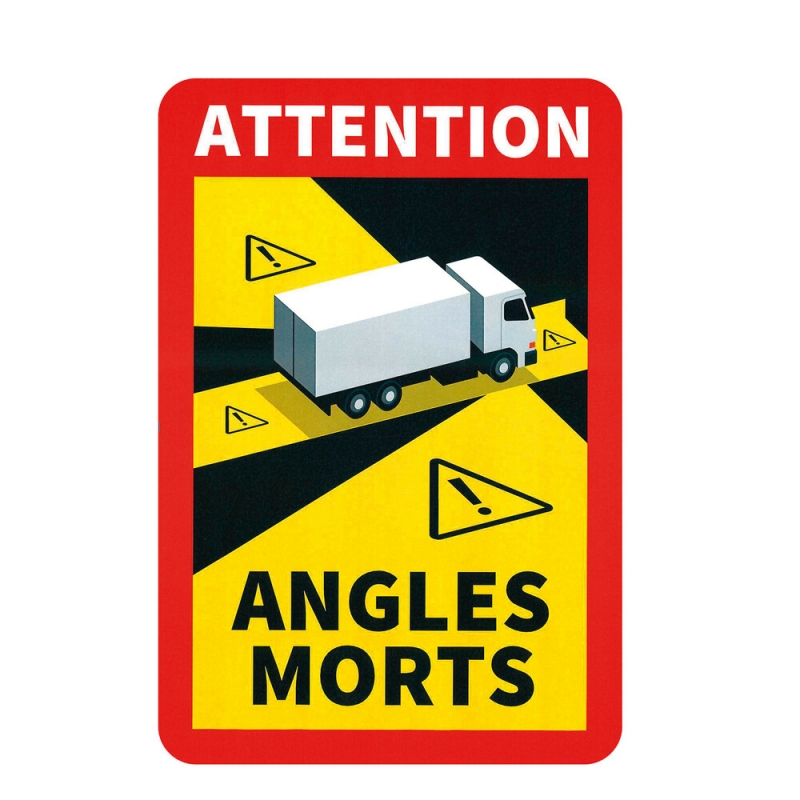 Autocollant angles morts - Camion - Accueil